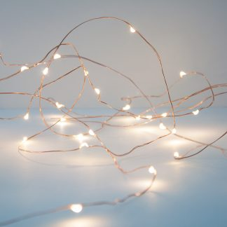 Copper wire string led fairy lights included