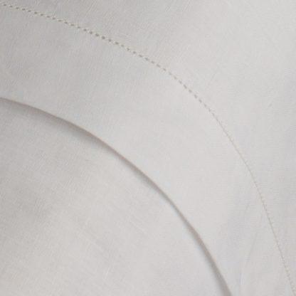 Flat Linen sheet with Picot Hem Stitch